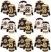 Wholesale Full Happy - 2018 Season Custom Boston Bruins Hockey Jersey 18 Happy Gilmore 63 Brad Marchand Bergeron Miller 51 Spooner 59 Schaller 88 David Pastrnak