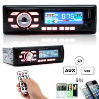 Wholesale Audio Stereo Amplifier 12v - Car Audio Stereo Remote Control FM Radio stereo MP3 Player WMA USB SD MMC AUX CAU_01H