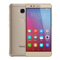 Wholesale Dual Sim Android 3g Huawei - Original Huawei Honor 5X Play KIW-AL10 5.5 inch 3G RAM 16G ROM 13.0MP Fingerprint 4G LTE Unlocked Cell Phones