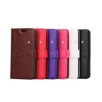 Wholesale Galaxy Active Wallet - Crazy Horse Wallet Leather For LG V20 X Power Stylo 2 Plus 5.7inch Galaxy S7 Active Photo Frame Photo ID Card Slot Holder Flip Cover Case