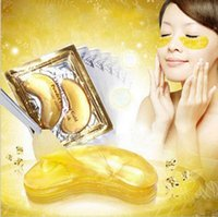 Wholesale Crystal Collagen Gold Powder - DHL Free shipping 10,000packs New Brand Crystal Collagen Gold Powder Eye Mask Crystal Eye Mask Eyes masks Dark circle Anti wrinkle moisture