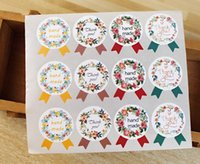Wholesale Wedding Thank Stickers - Wholesale- Handmade sticker sealing wedding labels party decoration thank you stickers seal labels