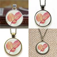 leaf keyring 2018 - 10pcs Pink Leaf Nature Art Pendant Necklace keyring bookmark cufflink earring bracelet