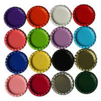 "Wholesale Painting Metal Siding - 100Pcs Lot 25mm ~ 26mm 1"" Metal Flattened Bottle Caps Printed On Both Sides Painted Barrette Jewelry Accessories 34mm External Diameter"
