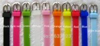 50 PCS / Lot 8MM silicone Wristband Bracelet bricolage Filles Charm Bangle Bracelets Fit 8MM Glisser Lettre / Slide Charms WB04