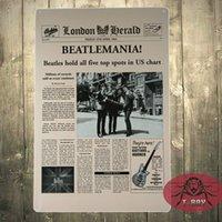 Wholesale vintage beatles poster - The BEATLES Vintage wall poster Garage Decor Bar House Office tin plaque G-71 160909#
