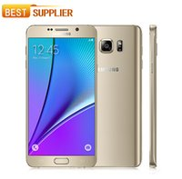 Wholesale Dual Note - 2016 Hot sell Original Unlocked Samsung Galaxy Note 5 N920 Octa Core 4GB RAM 32GB ROM LTE 16.0MP 5.7'' Dual-band Dual SIM Mobile Phone