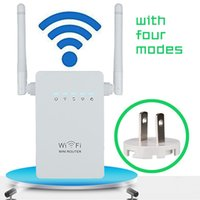 Wholesale new wi - New wireless Wifi Repeater 802.11N B G Network Router Range 300Mbps signal Antennas booster extend wifi