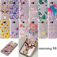 Wholesale Owl Case For Iphone - Unicorn Flower Dreamcatcher Owl Flamingo DandelionClear Soft TPU Case For Iphone X 8G 7 6 6S Plus SE 5 5S Samsung S8 PLUS NOTE8