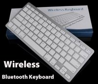 Wholesale Tablet Keyboard Package - Mini Wireless Keyboard Slim Streamline Design 2.4Ghz Bluetooth Keyboards for iphone iPad Samsung Tablet PC Laptop PC With Retail Package dhl