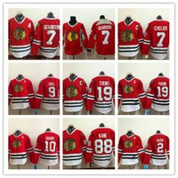 Wholesale Blackhawk Full - 2016 Chicago Blackhawk Men Jersey 19 Jonathan toews 88 Patrick kane Blackhawks jersey Red Mens Hockey Jerseys