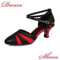 Wholesale Latin Dance Shoes Brands - Brand New Salsa tango women girls heeled satin ballroom latin dancing shoes ladies