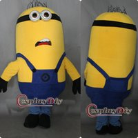 Wholesale Despicable Costumes - Wholesale-Free Shipping Custom-made Cheap Despicable Me Minion Mascot Costume for Adult