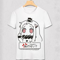 Wholesale Marvel T Shirts Wholesale - Wholesale-Kantai Collection anime T shirt Unique party swag anime T-shirt Bro Geek Original Hipster Comic tshirt marvel white homme shirt