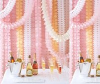 Wholesale Paper Garland Decoration - New 3.5M Four Leaf Clover Paper Garlands Party Wedding performance Home Decoration Beautiful Children Home Style Household 20 color cc657