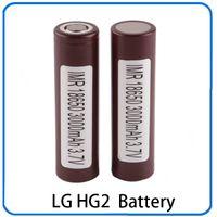 Wholesale Ecigs Batteries - 100% High Quality 18650 Battery HG2 3000mAh 30A Rechargable Lithium Batteries for LG Cells Fit Ecigs Vaporizer Vape box mod 0269006
