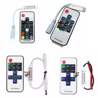 LED RGB Controller DC 12V-24V 12A 10key 17key mini RF Wireless Remote Dimmer para 5050 3528 RGB Flexible Strip Light