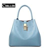 Wholesale Tote Shoulder Bags Handbag - 2016 famous brand luxury italian leather handbags bucket tote bag designer messenger women shoulder bags female ladies bag sets