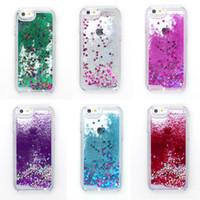 Wholesale Iphone 4s Running - Glitter Star Running Quicksand Liquid Dynamic clear Hard Case For iPhone 4s 5s SE 5c 6 6 plus samsung galaxy s5 s6 edge note 3 4 5