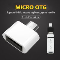 Wholesale Data Cable Mouse - Micro USB OTG Adapter portable 2.0 otg cable Converter For all android Tablet Pc to Flash Mouse Keyboard