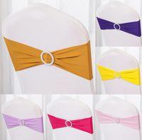ingrosso rivestimenti per sedie-Coprisedili Telai fascia Fascia copertura elastica Coverings gratuiti Bow Bowknot Round Buckle Fashion Tie Bands Belt 1 3xy