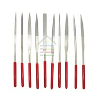 Assortiti Red Diamond Needle File Set affilatura 4x160mm Gioielliere Diamante Gringding scultura del mestiere strumento di metallo di pietra di vetro 10pcs / Set ordine $ 18no