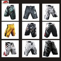 Suotf Mma Sparring Sports Training Muay Thaïlandais de boxe Muay Thai Boxing Shorts Thaïlandais Kickboxing Shorts Kickboxing