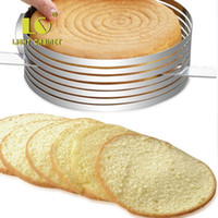 Wholesale Cake Circles Wholesale - Retractable Circle Mousse Ring Stratified Sliced Stainless Steel Cake Rings High Hardness Easy To Storage Baking Tools 6 8lca B