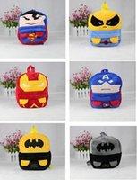 Wholesale Avengers Backpack Kids - Cute Avengers Captain America Iron Man Wolverine school bag backpack kids of plush backpack V15051401