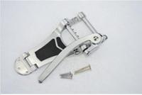 Wholesale guitar tailpiece bridge - Chrome Tremolo Vibrato Bridge Tailpiece Hollowbody Archtop Guitar