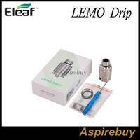 Wholesale First Slot - Eleaf Lemo Drip Tank First Rebuildable Drip RDA Atomizer Detachable Structure No Thread Connection Larger Slots Wide Open Space 100%Original