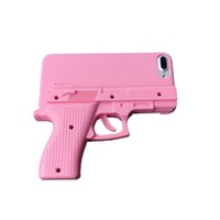 iphone4 4s cubierta de la caja al por mayor-3D Funda de pistola de juguete Cool SmartPhone para iPhone4 4s 5 5s se 6 6 Plus 7 7 plus Pistola cubierta de la PC dura