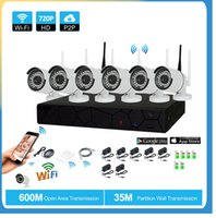 Compra 8ch Nvr-8CH CCTV Wireless 720P NVR 6PCS 1.0MP IR Outdoor P2P Wifi IP CCTV Telecamera di sicurezza Kit sistema di sorveglianza