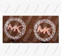 Wholesale Wholesale Round Crystal Stud Earrings - Fashion Jewelry 2017 Hot round Earrings For Women Girls Cute crystal Ear stud