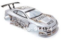 Wholesale Wholesale Body Shell Rc - 1 10 RC car Accessories 1:10 RC car PVC Body Shell 195mm No:011 Silver car engine accessories