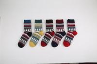 Wholesale Japanese Socks Female - 2017 autumn winter Japanese women rabbit wool socks retro Christmas tree in the tube female socks