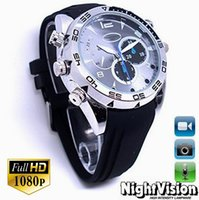 Wholesale Night Vision Hidden Camera Watch - 1080P HD 8GB Spy Camera Watch Metal DVR Hidden Recorder Night Vision DVR Portable Voice Recorder