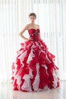 Wholesale Girls Ball Gown Tone - Amazing Masquerade Prom Dresses Cheap Sweetheart Beaded Ruffles Two Tone In Stock Debutante Sweet 16 Girls Quinceanera Dresses with Jacket