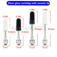 Wholesale Firing Tips - 2017 Newest silver glass cartridges ceramic coil no wick no fire o pen vape pen cartridge empty with ceramic tip