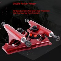 Puente de la calle 4Colors Disponible Soporte de placa Skateboarding Roller Wave Board Hollow Casting Anchor Truck
