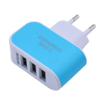 Wholesale Tomada Usb - 2016 Hot Selling 5V 3.1A Triple USB Port Wall Home Travel AC USB Charger Adapter EU Plug For Phone Pad Tomada
