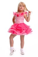 Wholesale Toddler Bodice - Beaded Bodice Organza Girls Dresses Bateau Neck Short Party Gowns Cute 2016 Cupcakes Toddler Pageant Dresses For Teens