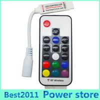 Wholesale Led Dimmer Mini Rf Wireless - LED RGB Controller DC5V-24V 12A 17key mini RF Wireless Remote Dimmer For 5050 3528 RGB Flexible Strip Light