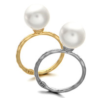 Bague Pour Femmes Lady Style Imitation Perle Or plaqué Ring Full Sizes Pour Femmes Wedding Party Grossiste Pearl Ring