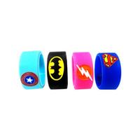 Wholesale superman batman online - Superman Batman Captain America Flash Silicone Vape Band Engraved Logo Silicon Beauty Decorative Ring mm mm for Rba Rda Vapor Mod DHL