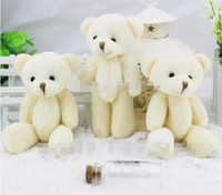 Wholesale wedding stuffed animals - 24pcs lovely Mini Teddy Bear plush toys gummy bears cm animal for Wedding peluches stuffed bicho ursinho de pelucia