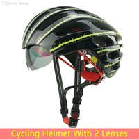 Wholesale Helmet Cycling Green - Wholesale-HOT!Bicycle Cycling Helmet EPS+PC Ultralight Mountain Bike Helmet 27 Air Vents With 2 Lenses   Riding GlassesSIZE:56-62cm