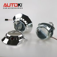 Wholesale E46 Hid - Free Shipping Updated Metal 3.0 Super HID Bi-xenon Projector Lens LHD RHD + ZKW Shroud A for E46 Auto Headlight Retrofitting
