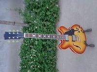 Wholesale Honey Burst Jazz Guitar - Best China Custom shop guitar honey burst color Jazz 335 guitar Free shipping