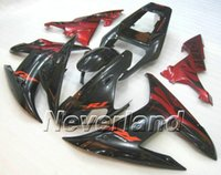 Wholesale Yamaha R1 Custom Fairings - CUSTOM Motorcycle Fairing kit for YZFR1 02 03 YZF R1 2002 2003 yzfr1 YZF1000 TOP Red black ABS Fairings set